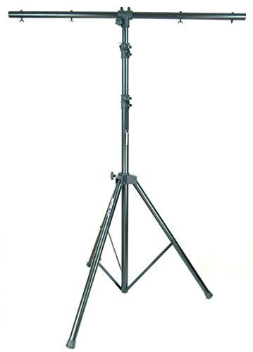1 x MASTER AUDIO LS02 Lichtstativ mit Quertraverse & 2 x Teleskopauszug