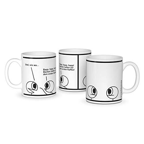 Erzaehlmirnix Becher Bapp Bapp Bapp - Lustige Tasse für Fans der Nadja Hermann Comics - Offizielles Lizenzprodukt - Keramik 300 ml
