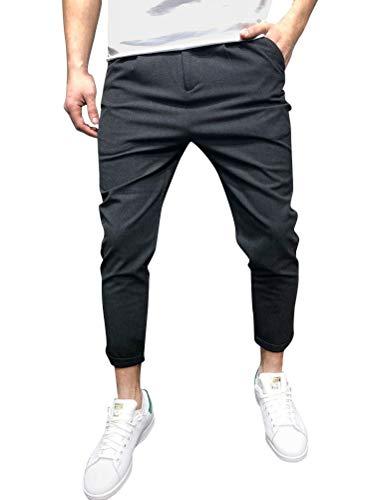 Tomwell Pantalons de Sport Homme Casual Vintage Pantalons Jogging Baggy Style Sport Slim Fit Pants Noir Small