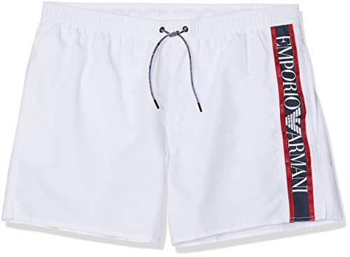 Emporio Armani Underwear 9p425 Bañador, Blanco (Bianco