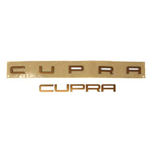 Finest-Folia Cupra Schriftzug Folie für Emblem Aufkleber (K104 Kupfer Matt Metallic)