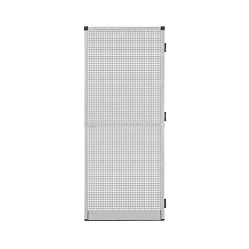 Fliegengitter Insektenschutz Tür Alurahmen Mückengitter Balkontür 100 x 210 cm weiß