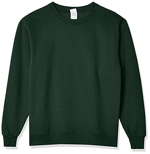 Hanes Men's EcoSmart Sweatshirt, Deep Forest, Large