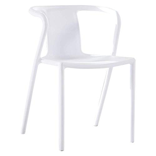 Comfortable Chair Dining Chair, 2 Sets Stackable Design Restaurant Chair One-piece Molding Plastic Chair With Armrests Leisure Chair Maximum Carrying Capacity: 264lbs