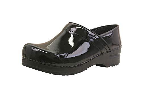 Sanita | Professional geschlossener Clog | Original handgemacht für Damen | Anatomisch geformtes Fußbett mit weichem Schaum | Schwarz | 35 EU