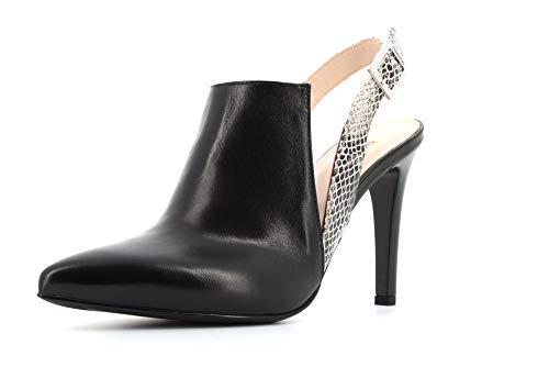 NeroGiardini E011062DE Zapatos De Salón Mujer De Piel Y Tela - Negro...