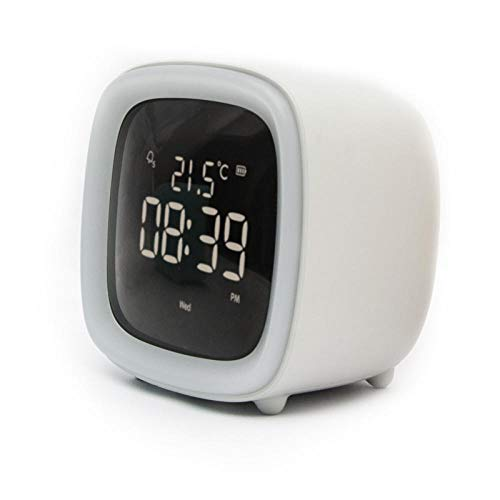 Wekker, verjaardagscadeau, elektronische wekker TV schattige temperatuurweergave voor kinderen, digitale wekker (3,1 x 26 x 3,2 inch)
