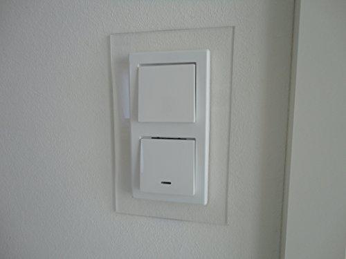 Schalterblenden, Abdeck Dekor Rahmen, passend für alle vorh. Schalter (2er Blende, klar)