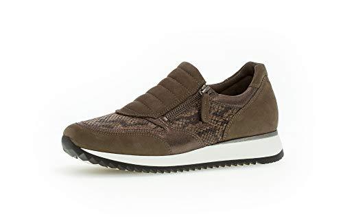 Gabor Damen Sneaker 36.332, Frauen Slip-On Sneaker,Skater,Sportschuh,Slipper,Schlüpfschuh,Low-Top,fumo/Fango,40 EU / 6.5 UK