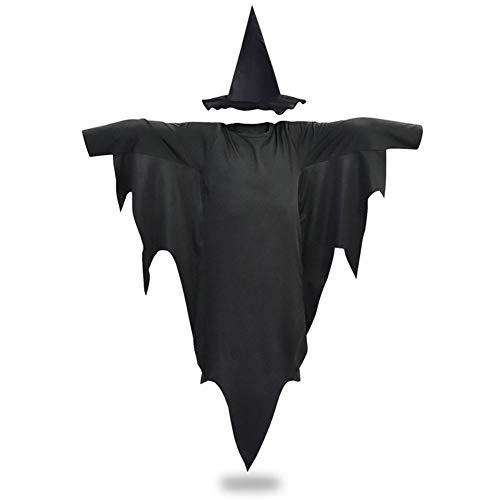 LXJ Horror Heks Kostuum Enge Kostuum Halloween Kleding Heks Kids Halloween Kostuums Voor Kinderen Enge Cosplay Robe Hoed