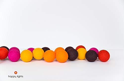 Happy Lights - MARRAKECH - Kleurrijke Cotton Ball Lichtslingers - 35LED
