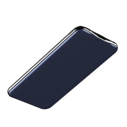 Carregador Portátil Universal, 15.000mAh, 1 porta USB-C (tipo C) e 1 porta USB, LEDs indicativos de carga, Azul, PB15000 cmB, Geonav, 142 x 72 x 12