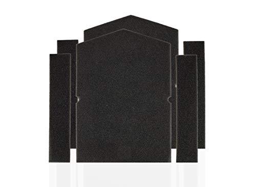 Supremery Set di 2 filtri per asciugatrice Miele 6057930 + 9688381 | Filtro per lanugine in spugna filtro spugna filtro per asciugatrici Miele, asciugatrici a pompa di calore