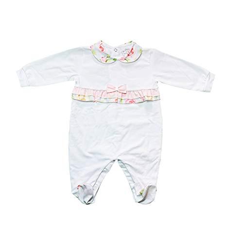 LE CHICCHE Body para bebé de algodón Jersey rosa blanco rosa Serie 430