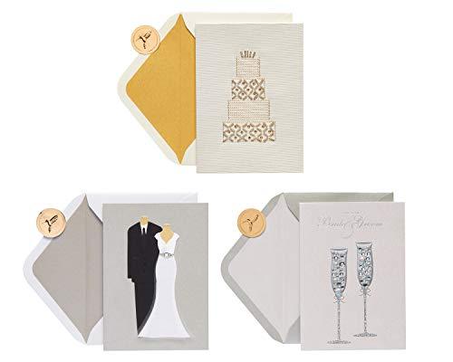 Papyrus Conjuntos de cartões de casamento, clássico e elegante (3 unidades)