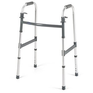 Walker Folding Dual Paddle Release Adult - Invacare 6291A (walker without wheels)