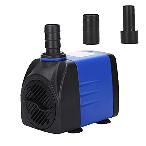 NaiCasy Bomba Bomba Sumergible Mini Acuario de Agua con 2 Boquillas para Fuente del Acuario Estanque de jardín 10W