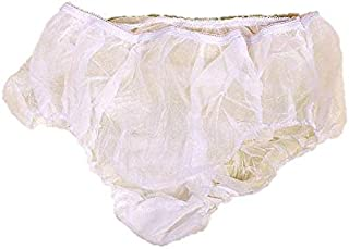 Sensual Lady Disposable Panties for Pregnant Women | Maternity Underwear | Women's Travel Prenatal Postpartum Non-Woven Panties - 5pc White