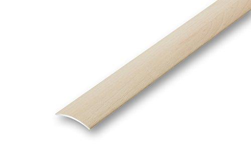 (4,50€/m) 30 mm Aluminium Übergangsprofil Ahorn im Holzdekor furniert (900 mm (selbstklebend), Ahorn)