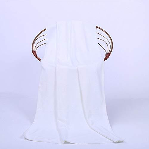 ACEHE Toalla de baño de Secado rápido Absorbente de Microfibra Multiusos Toalla de Playa Toalla de baño Toalla de Pelo Toallas Deportivas de Fitness (Blanco)