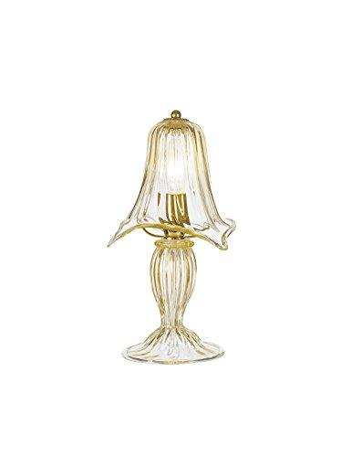 Rossini verlichting bloemen tafellamp Murano E14 42W goud