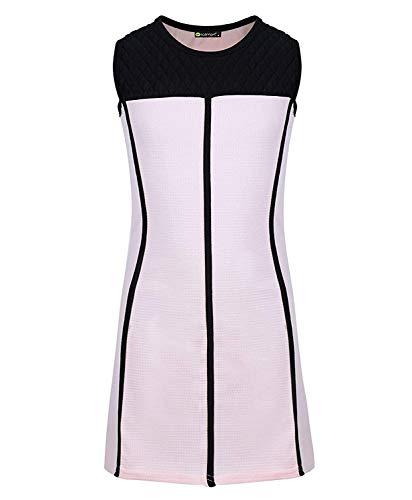 LOTMART meisjesbuis en strass details jurk gestructureerd sportief chique party top