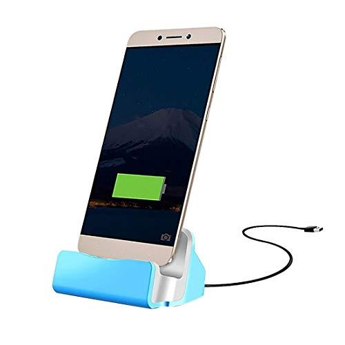 Durable USB-C/Type-C 3.1 Sync Data/Cargador de Carga Cargador de Carga, para Galaxy S8 & S8 + / LG G6 / Huawei P10 y P10 Plus/XIAOMI MI 6 & MAX 2 y Otros teléfonos Inteligentes (Color : Blue)