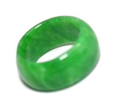 Anillo de jade verde natural
