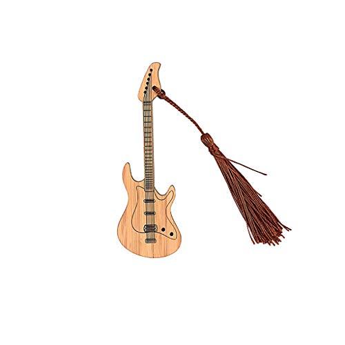 Alnicov Design Chitarra Bambù Segnalibro Con Nappe Per Progetti DIY e Regali Tags-1C09