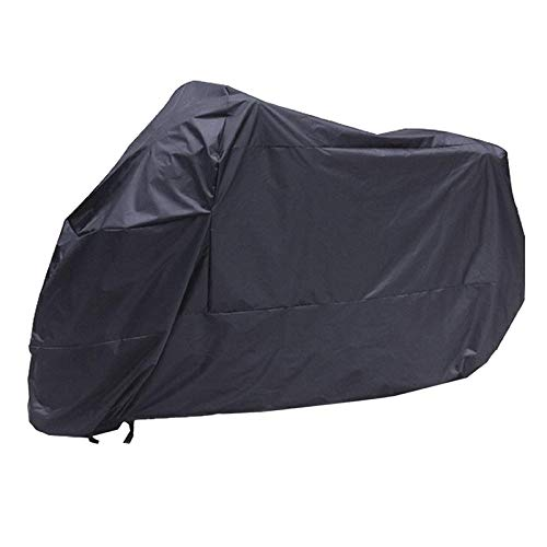 letaowl Funda de motocicleta negra impermeable resistente al agua lluvia UV protección transpirable cubierta exterior interior con bolsa de almacenamiento XXL