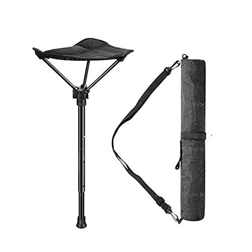 Zusammenklappbarer Campinghocker von Alunyan, einbeinig, verstellbarer Hocker für Bergsteigen, Camping, Grillen im Freien, Angeln und Konzert, Gewicht bis zu 125 kg