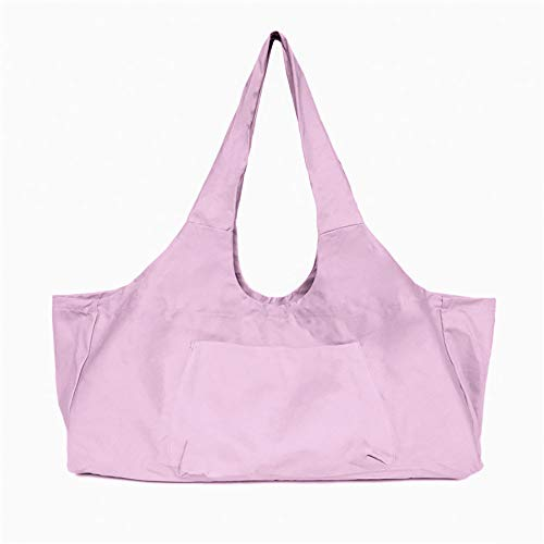 Large Yoga Pilates Mat Bag, Cotton Canvas Tote Bag, Large Capacity Canvas Shoulder Storage Bag, Large Capacity Canvas Yoga Bag, Fit Most Size Mats, Yoga Mat Bag with Pockets