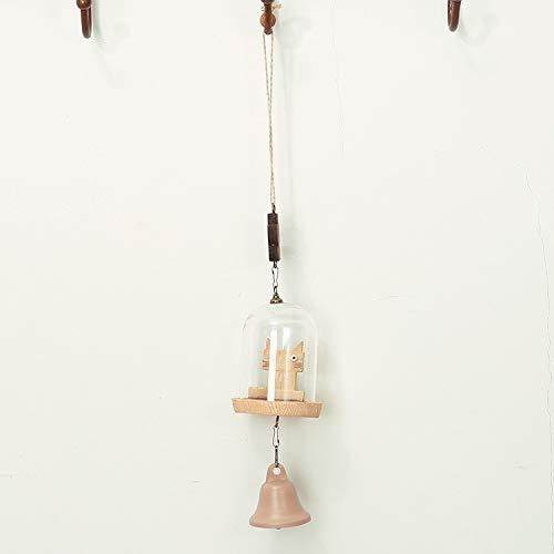 sdjfgbm1 Süße Holz-Chip Harz Wind Glocke Bett Glocke männlich und weiblich Geschenk Balkon Schlafzimmer hängenTür Dekoration 31CM B
