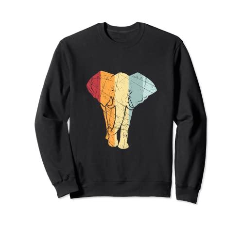Elefante retro vintage con diseño de animales Sudadera