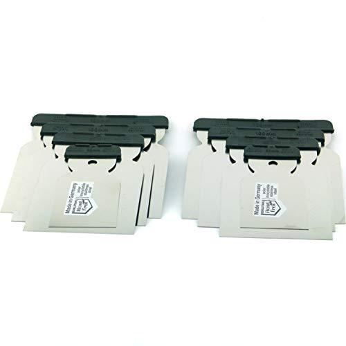 2x 4tlg. Japanspachtel Set Edelstahlblatt rostfrei Metallspachtel säurefest flexibel Flächenspachtel Qualitätswerkzeug für Profis