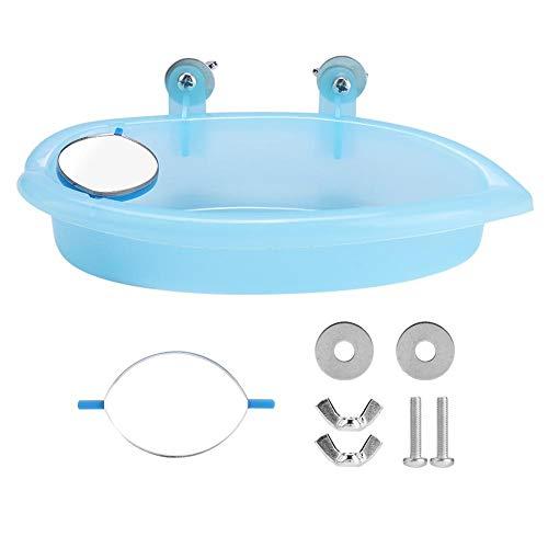 Furnoor-Vogel-Badewanne, Netter Haustier-Badewannen-Vogel, Der Kasten Mit Spiegel-VogelkäFig-Spielzeug-ZusäTzlichem Blau Badet