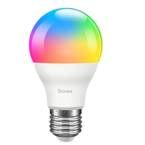 Govee LED Light Bulb Dimmable, Music Sync RGB Color Changing Light Bulb A19 7W 60W Equivalent, Multicolor Decorative No Hub Required LED Bulb with APP for Party Home (Don't Support WiFi/Alexa)