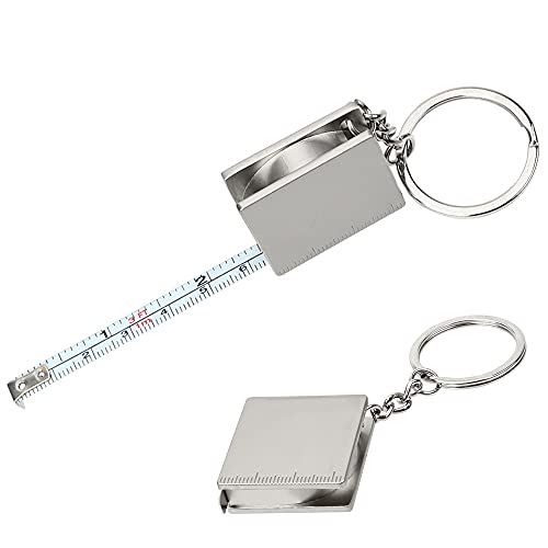 Cinta métrica Pull Ruler Key Ring Herramientas de medición Retráctil Regla Herramientas de Medición Llavero Portátil Predeterminado