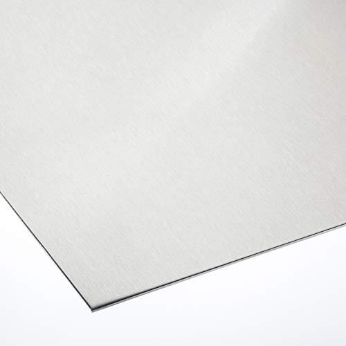 Aluminiumblech 1 mm dick ALMg3 Zuschnitt inkl einseitig Folie Alublech Zuschnitte auf Maß (500 mm x 350 mm)