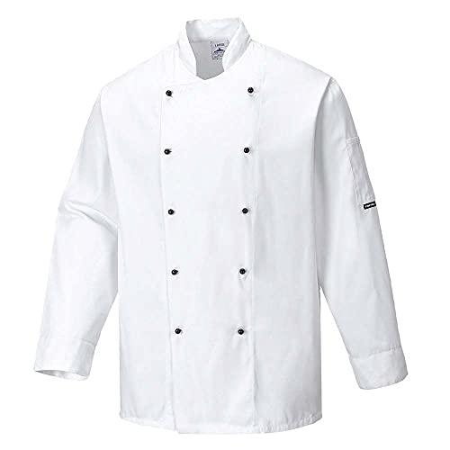 Portwest C834 Somerset Veste de cuisine, Small, blanc