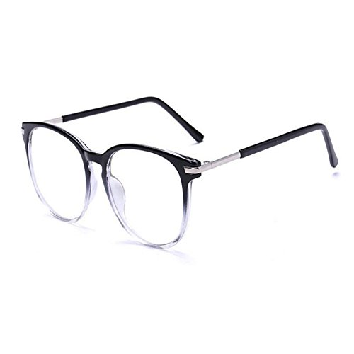 Hzjundasi Gafas para Protección Visual contra Luz Azul para Ordenador/Lectura/TV/Gaming/Anti fatiga Anti UV Redondo Retro [Lentes Transparente] - Gafas Mujer Hombres
