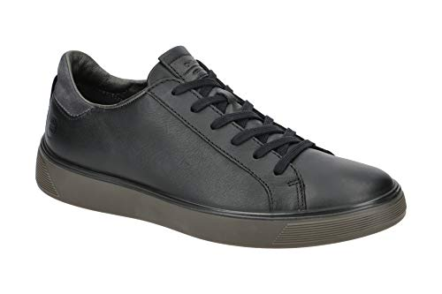 ECCO mens Street Tray Classic Sneaker, Black/Magnet, 11-11.5 US
