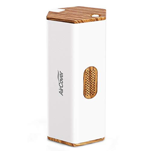 Portable Air Purifier, Aircover Mini Ozone Generator with USB Rechargeable, Air Cleaner Sterilizer for Traveling, Odor Eliminating for Fridge,Shoe Cabinet, Wardrobe, Pets, Toys, Cars.