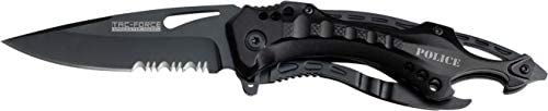 TAC Force- Spring Assisted Folding Pocket Knife – Bottle Opener, Glass Punch and Pocket Clip, Tactical, EDC, Rescue - TF-705 Series