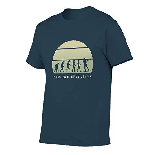 STELULI Hombre Algodón T-Shirt Surfing Evolution Colorido - Tops -Tops -Tops -Tops