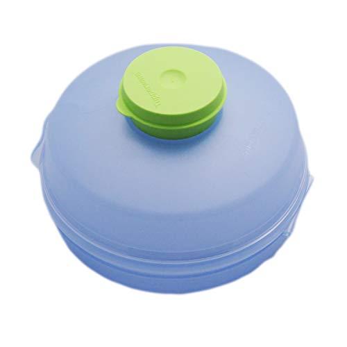 Tupperware To Go Hamburger Box z puszką na dipy, pudełko na lunch bułki błękitne (błękitne)