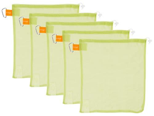 KAF Home Bring It Reusable Produce Bags | Set of 5 Mesh Veggie Bags