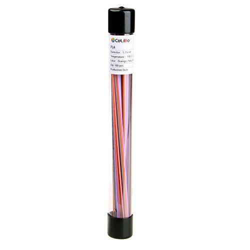 3D penna PLA Fillament–Confezione di ricambio multicolore (pezzi)–arancio, rosa, viola, marrone, grigio
