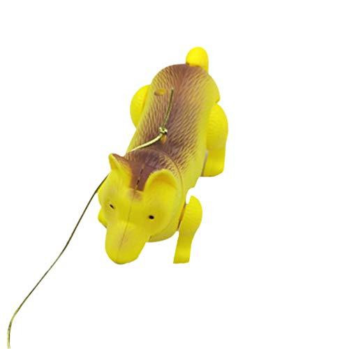 TOYANDONA Un Juguete de Perro eléctrico Que Camina con Animales creativos Luminosos y Tira de Cuerdas para niños pequeños.