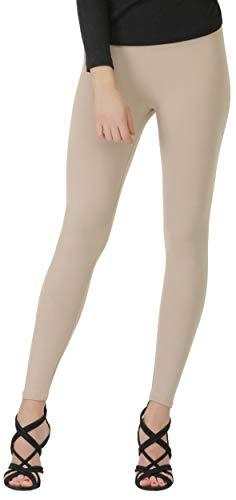 BeLady dameslegging enkellang ondoorzichtige leggings vele kleuren vele maten (beige 2, 3XL - 46)